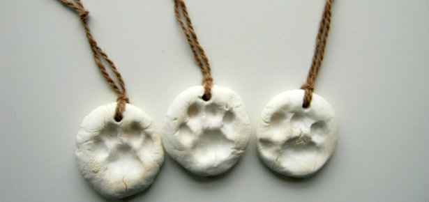 DIY Paw Print Christmas Tree Ornaments