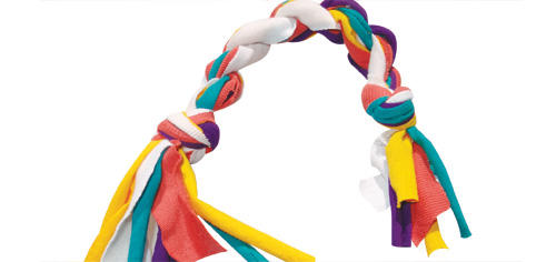 Dog Toys With Strips Of Fabric