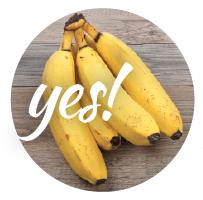 Bananas are a good dog treat.