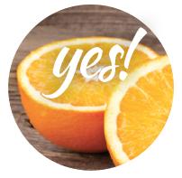 Oranges are safe for pooch!