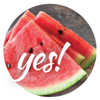Watermelon is O.K. for our dog's nutrition.