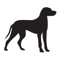 breed silhouette templates for retro ornament craft modern dog