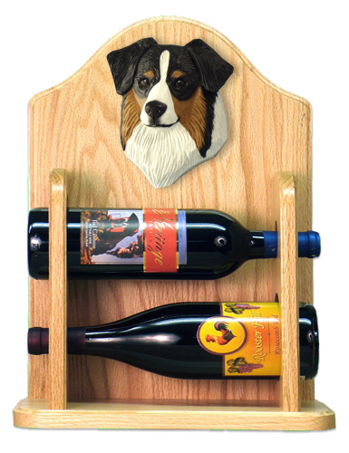 Anything Dogs Border Collie Wine Rack