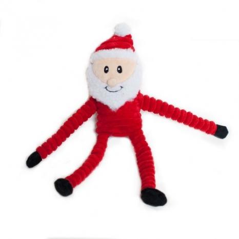 ZippyPaws Santa Dog Toy