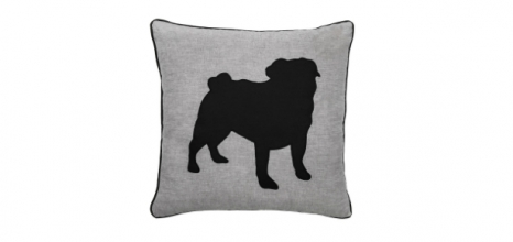Torre & Tagus Pug Cushion