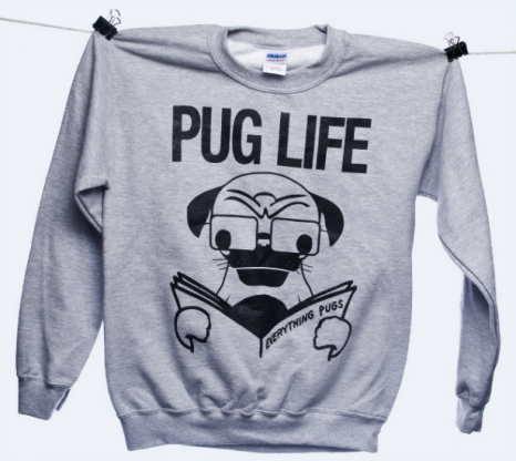 Pug Life Crew Neck Sweater