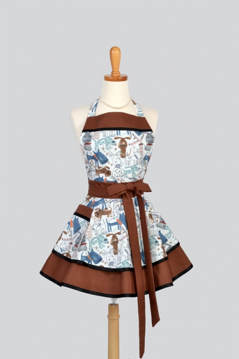 Ruffled Retro Apron