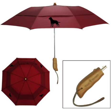 "Your Breed Clothing Peerless 43"" Arc Auto Open Folding Umbrella"