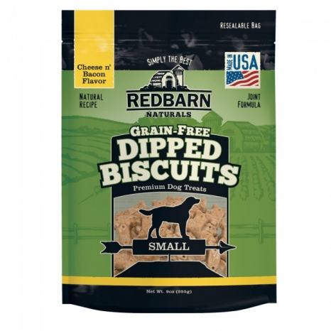 Redbarn Pet Products Cheese and Bacon Dipped Grain-Free Biscuits