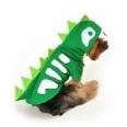 Green Skeleton Dinosaur Dog Costume