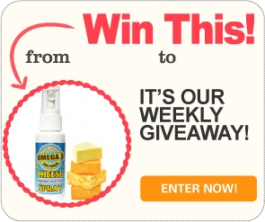 Win 1 of 25 delicious cheese-flavoured sprays for dry dog food
