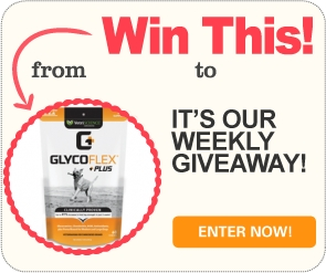 Win 1 of 2 six-month supplies of Glyco Flex Plus joint supplements for dogs!