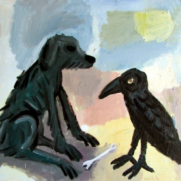 dog and raven