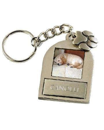 Double Dog Photo Keychain