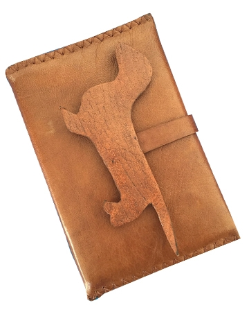 Leather passport case from Anvali Milano