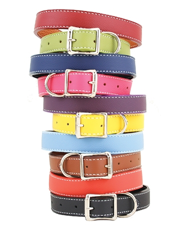 Italian leather collars from Collars & More