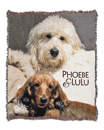 Custom blanket from Personalized Pooch