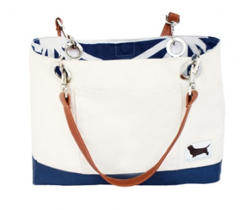 Reversible Santorini Tote by Blue Blood Living