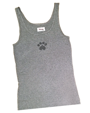 Heart paw tank top from 3 Dawg