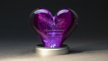 Crystal Remembrance dog memorial glass pieces