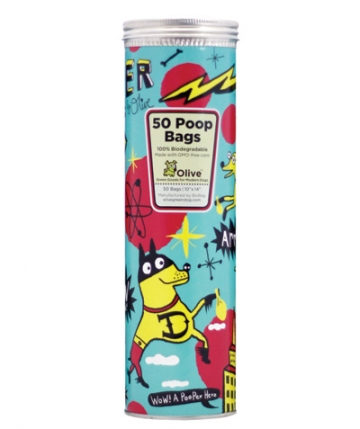 Poop-bag Canisters from Olive Green Dog