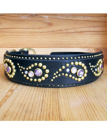 Custom leather collar from Paco Collars