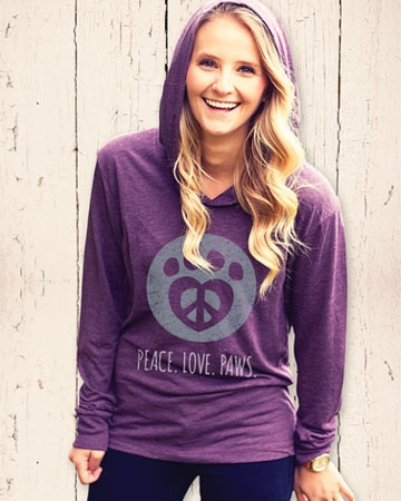 Hoodie from Peace. Love. Paws.