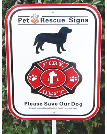 Pet fire rescue sign from MasonBlue