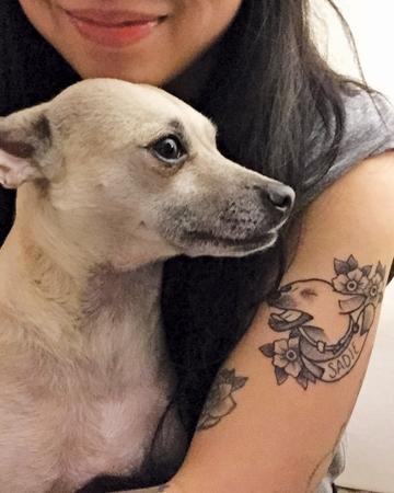 Vanessa Dong and her dog Sadie