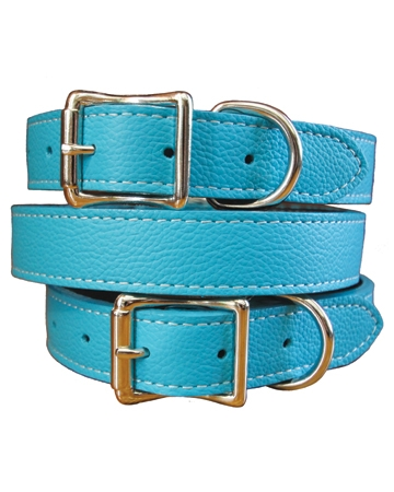 Italian leather Tuscany collar by Auburn Leathercrafters