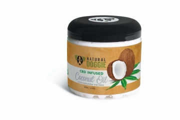 Natural Doggie natural coconut oil, CBD infused dog coconut oil