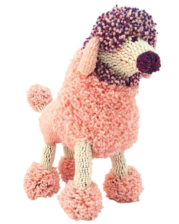 African beaded dog