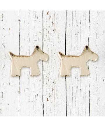 Dog stud earrings by Peace.Love.Paws.