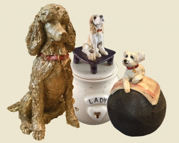 Eldoop custom dog designed urns and memorials