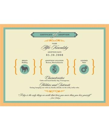 Custom birth & adoption certificates by My Happy Park