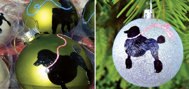 DIY Craft - Breed Silhouette Ornaments