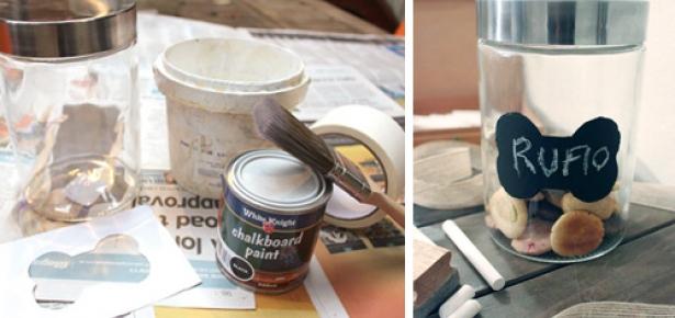 DIY Craft - Chalkboard Dog-treat Jar