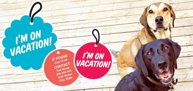 DIY Vacation Dog Tags