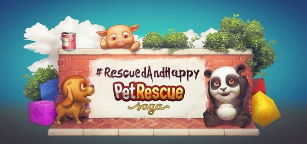 #RescuedandHappy with Pet Rescue Saga