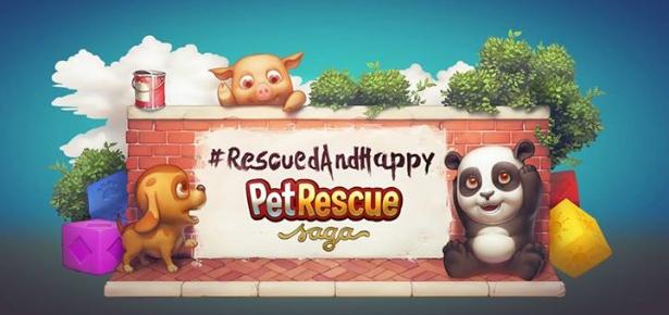 #RescuedandHappy with Pet Rescue Saga
