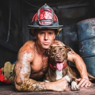 "Dustin Ford ""Mr. May"" of North Charleston Fire Department with rescue model Cailtyn"