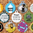 Win 1 of 12 colourful, customized steel pet ID tags from Dog Tag Art!