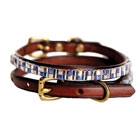 Hand-beaded leather collar from Just Fur Fun