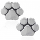 Silver Paw Print Earrings by Plum Island