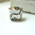 Dachshund Sterling Silver Ring
