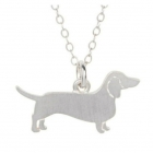 Silhoupette Dachshund Necklace