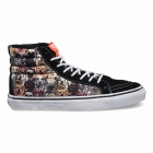 Vans dog print shoes