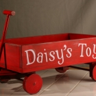 Personalized Dog Toy Red Wagon