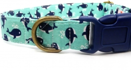 Very Vintage Whale Watching Dog Collar